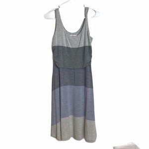 Athleta Striped Ruched Tank Dress S